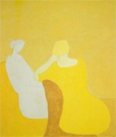 Interlude - Milton Avery Artist:Milton Avery Completion Date: 1960 Style:Fauvism, Expressionism  Genre:portrait