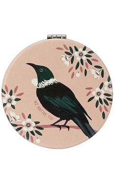Tui Bird, Sky Design, Compact Mirror, Easy Access, New Zealand, Nativity, Pocket, Lady, Fun