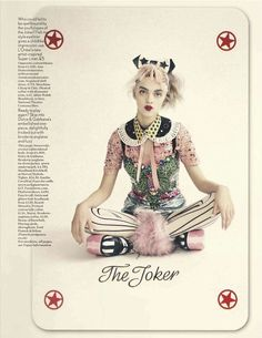 The Joker's Wild editorial - Vogue UK, April 2012 Issue