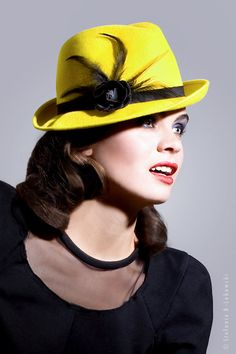 bright ray of sunshine  yellow hat by mademoiselle slassi