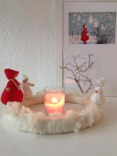 Winter scene. The snow child. Would make a great needlefelting project