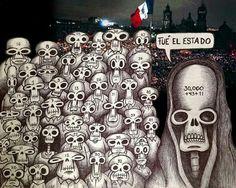 """""""30'000 + 43 + 11 + 31 + hoy"""".   FUE EL ESTADO:  #YaMeCansé #MéxicoEstadoFallido #MéxicoViolento #Impunidad #Represión #DDHH #Ayotzinapa #Iguala #Guerrero #México #Normalistas #AyotzinapaSomosTodos #JusticiaParaAyotzinapa #JusticeForAyotzinapa #YoSoyAyotzinapa #AcciónGlobalPorAyotzinapa #PresosPolíticosLIBERTAD #Artículo39RenunciaEPN #20NovMx #Cocula #TodosSomosCompas"""