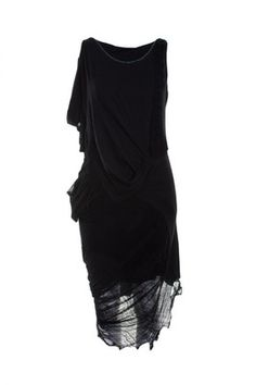 Religion Clothing Dress Cleansing With Faggoting In Jet Black. - Polyvore f3424591e44