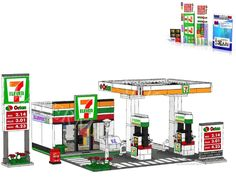 Stickers Lego Custom: 24 Seven Gas Station, Code Card Instructions, city town 11 #LEGO
