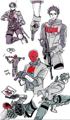 Red Hood Fan Art || Jason Peter Todd || Jason Todd Sketches
