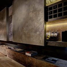 Wine cellar in leather Modern Industrial, Wine Cellar, Innovation, Shelves, Interior Design, Wall, Leather, Inspiration, Home Decor