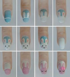 Cute Bunny Nail Art! - I love getting my nails done and so does my young daughter. We decided to be festive on our last mother and daughter bonding day and get cute bunny nail art done.