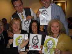 Caricatures at the Ecademy 14th birthday party.