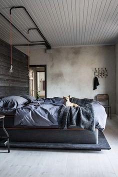 Skandynawskie Trendy Graues SchlafzimmerSchlafzimmer