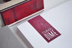 Custom stamp via Emma Dime - graphic design and self branding