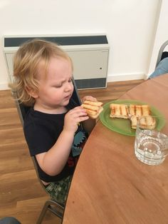 Ayrton couldn't see chips and sauce on the menu. So he went for a toasty