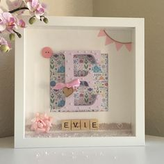 EvieGlitterSparkles: Handmade Personalised Picture Box Frame Gifts