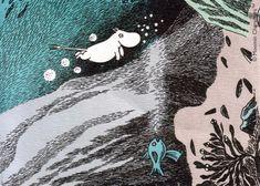 Love this Moomin pattern Art And Illustration, Tove Jansson, Moomin Valley, Art For Art Sake, Vintage Children's Books, Line Art, Whimsical, Folk, Sketches