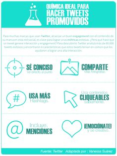 #Infografia #RedesSociales La Química del twitter. #TAVnews