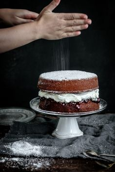 Beautifully fluffy vanilla sponge cake, sandwiched with strawberry black pepper jam and mascarpone cream. Anisa Sabet | The Macadames | Food Styling | Food Photography | Props | Moody | Food Blogger | Recipes