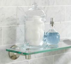 Glass shelves Ideas - Glass shelves Kitchen Floating - - Glass shelves For TV - Glass Shelves In Bathroom, Floating Glass Shelves, Spa Like Bathroom, Tempered Glass Shelves, Shower Shelves, Room Shelves, Glass Bathroom, Amazing Bathrooms, Bathroom Storage