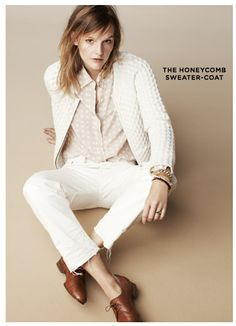 8ba04b68590 I still have a tough time w white after labour day time for a change!  Madewell honeycomb sweater-coat