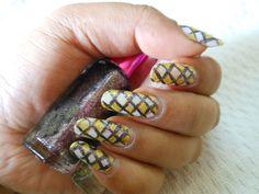 Checkerboard Nail Art Tutorial