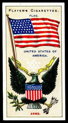 Cigarette Card - Arms & Flag of the USA