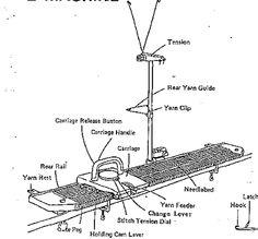 Silver Reed LK 150 Mid Gauge Manual Knitting Machine