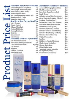 SeneGence Product List & Prices..join my team & get 20%-50% off every purchase!! www.gorgeouslip.com Nicole McClung Independent Distributor #248677