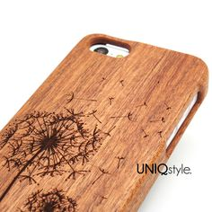 Flying Dandelion engraved wood case for iPhone 6, iPhone 4/4s, iPhone 5/5s/5c, Samsung S3 S4 S5 Note 3 wooden case, real wood cover