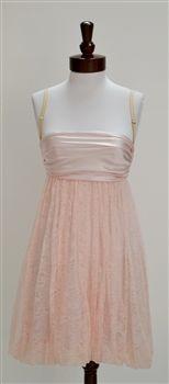 D Dolce & Gabbana  Pink Lace Bustier Dress