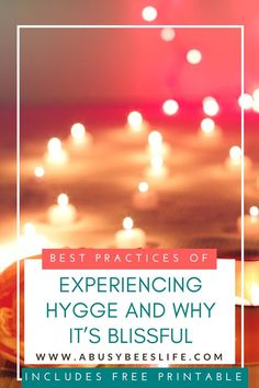Are you experiencing hygge already without even knowing it? Pronounced 'hoo-ga', it is the concept of creating and savouring great moments. via @abusybeeslife