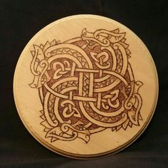 Viking Dragon Wheel Wood Burning - Altar Tile - Decor by TooOldCrows on Etsy Viking Dragon, Celtic Dragon, Celtic Art, Viking Designs, Celtic Designs, Viking Symbols, Viking Art, Celtic Tattoos, Viking Tattoos