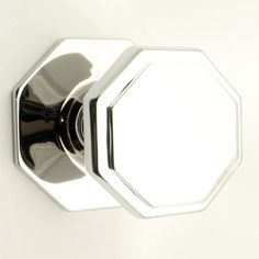 Centre Front Door Pull Knob on 85mm Rose in Polished Chrome in Home, Furniture & DIY, DIY Materials, Doors & Door Accessories | eBay