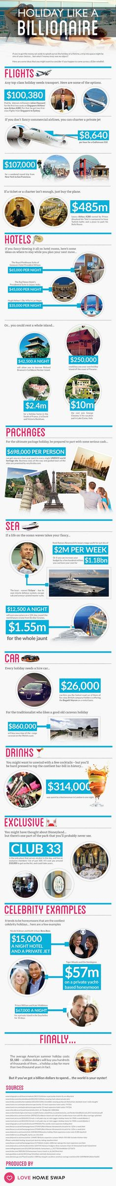 Learn how to spend like a billionaire by reading our fun infographic.