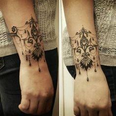 I have to admit I DO LIKE THIS elegant wrist tattoo whish is the work of Dark Betty