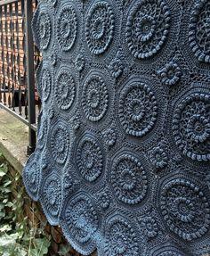 crochet afghan pattern versailles matelassé afghan pattern by priscilla hewitt - this is super gorgeous! BNFDYHT - Crochet and Knit Crochet Afghans, Afghan Crochet Patterns, Crochet Squares, Knitting Patterns, Blanket Crochet, Crochet Granny, Granny Squares, Granny Granny, Crochet Bedspread