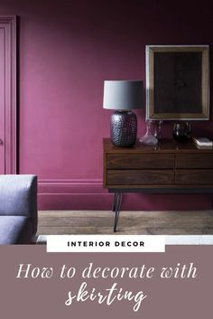 How to use skirting as a decorating element in your interior design. What type of skirting to choose for your home& architecture. Guide to skirting boards. Wainscoting Panels, Skirting Boards, Types Of Skirts, Interior Decorating, Interior Design, Architecture, Home, Drawing Room Interior, Design Interiors