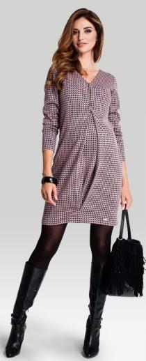 Koko платье с V-образным вырезом декольте из ткани в узор гусиная лапка