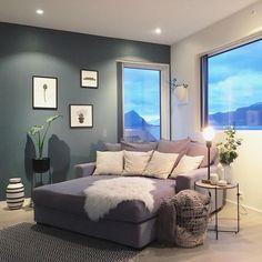 kitchen home decor St Pauls Blue, Corner Space, Deco Blue, Living Room Colors, Modern Kitchen Design, Living Room Interior, Scandinavian Style, Living Spaces, House
