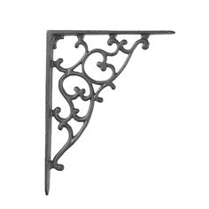Just the right size for shelf supports the grill iron shelf bracket adds a wonderfully architectural touch to your project. Available in your choice of finishes they can add a rustic, antique or even ...