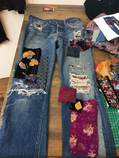 Denim Patchwork, Rock Revival, Jeans, Fashion, Upcycled Clothing, Moda, Fasion, Gin, Fashion Illustrations