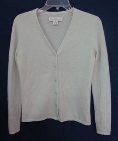 Collection Fifty Nine Cashmere Cardigan Mint Green Sweater BLOOMINGDALES Women…