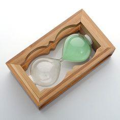 5/8/10/30 Min Wooden Hourglass Timer Clock Decor Home Garden Gift green Design #koreaTWOMEN