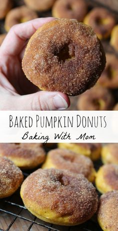 Baked Pumpkin Donuts a fall breakfast recipe your family will enjoy. Pumpkin flavor and cinnamon sugar. Enjoy these donuts on a cold morning sipping coffee