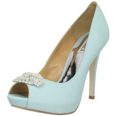 Badgley Mischka Women's Goodie Peep-Toe Pump - great color to go with a white dress