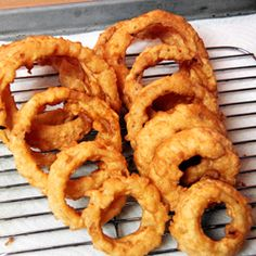 "Beer-Battered Onion Rings - These monsters would probably be more aptly named ""crunchy onion doughnuts""."