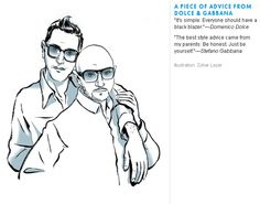 Fashion advise for men from some of the great designers...