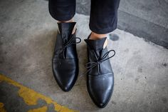 New Leather Shoes Black Shoes Handmade Shoes Winter Shoes