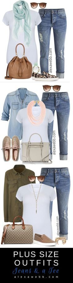 Plus Size Outfit Ideas - Plus Size Jeans and a Tee - Plus Size Fashion for Women…