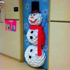 CLASSROOM DOOR DECORATING SNOWMAN