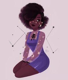 25 Black Girl Character Art Illustrations You'll Love - Black Girl Anime