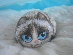 Charity Painted Pet Rock of Grumpy Cat Tartar Sauce by BoandMe, $25.00