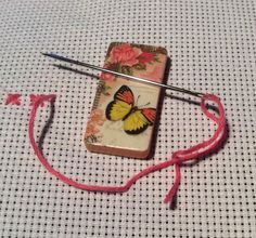 Needle Minder - Butterfly- Magnetic - Cross Stitch - Sewing - Needle Point - Mum - Gran - Friend - Easter gift - Sister - Nanny by DaintyDotsDecoupage on Etsy